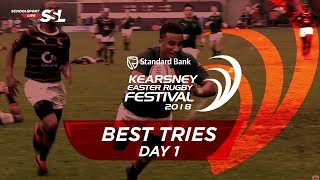 BEST TRIES OF DAY 1 - Kearsney Easter Rugby Festival 2018