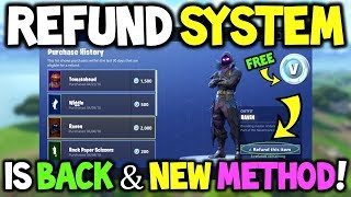 REFUND System *IS BACK* - How To Use *NEW* REFUND System In FORTNITE! (Return, Free V-BUCKS!)