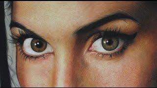 Drawing Amy Winehouse Photorealism