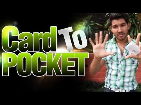 Free Magic Tricks Revealed! Learn Amazing Card Trick! Card To Pocket
