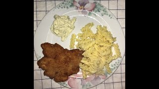 Schnitzel mit Nudel Rezept/Snicle sa makaronama recept