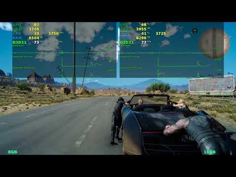 8gb vs 16gb RAM   Final Fantasy XV & Fallout 4