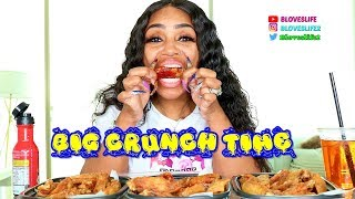 Fried Chicken Wing Mukbang
