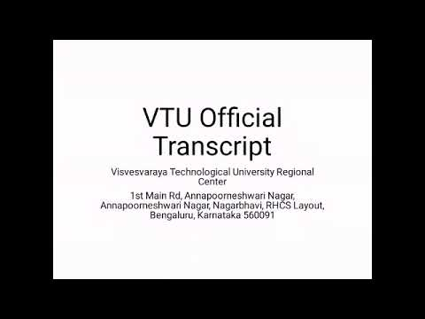 Before You Request VTU Official Transcript - Watch This