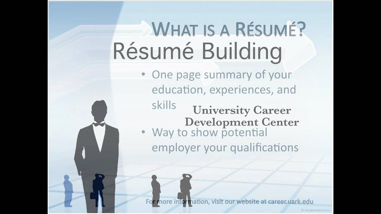 online presentation resume youtube