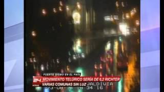 Sismo en vivo en programa de Deportes de Canal 24 Horas