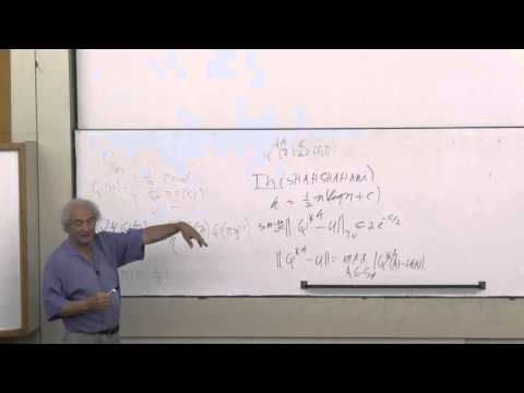 Persi Diaconis at Technion - Mathematics lecture 1
