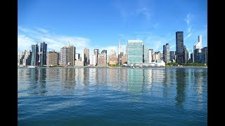 Download Video Manhattan Skyline and East River, New York City Waterfront, 4K Video MP3 3GP MP4