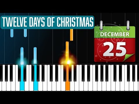 12 Days Of Christmas Piano Tutorial  Chords  How To Play