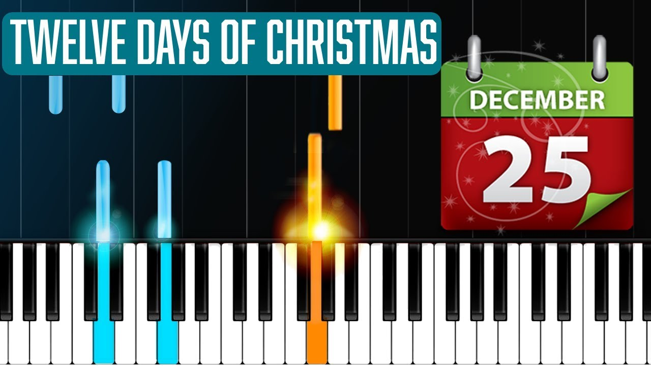 """""""12 Days Of Christmas"""" Piano Tutorial - Chords - How To Play - Cover - YouTube"""