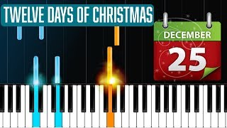 """12 Days Of Christmas"" Piano Tutorial - Chords - How To Play - Cover"