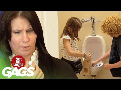 Urinal Cake As Candy Prank - Just For Laughs Gags