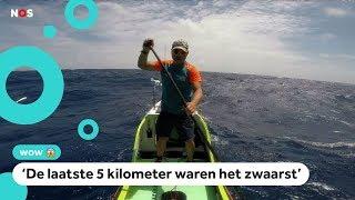 Bijzondere vakantie: 4000 kilometer peddelen over zee