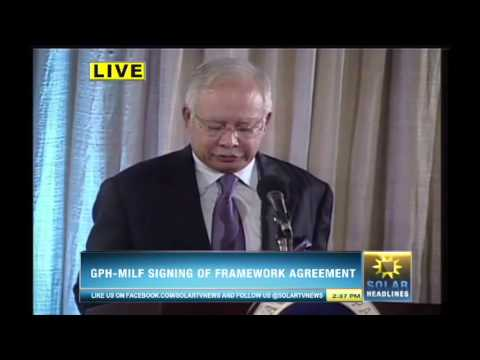 Bangsamoro Framework Agreement is forged in Malacañan - Part 4/7