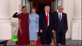 Трамп с супругой в ходе инаугурации встретились с четой Обама