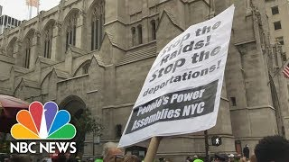 Protesters Gather On 5th Avenue To Oppose Businesses Working With ICE | NBC News