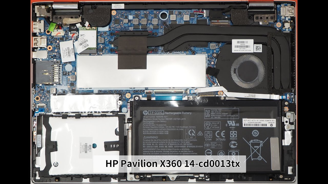 HP Pavilion X360 14-cd0013tx 拆機 (2018.06 機型)