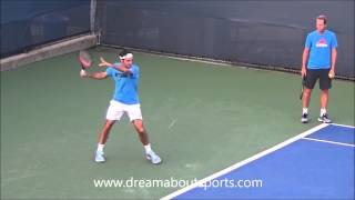 Roger Federer Forehand slow motion from practice session