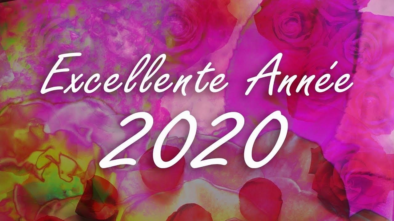 carte virtuelle voeux 2020 Bonne année 2020   Carte virtuelle de vœux 2020   fleurs   YouTube