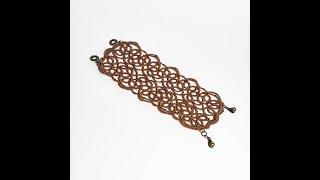 Фриволите для начинающих. Ажурный браслет (1 часть). Процесс плетения. Frivolite