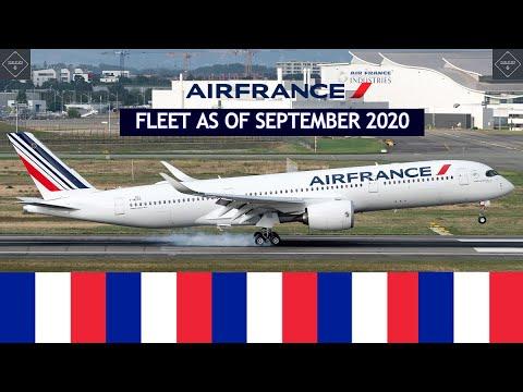 Air France fleet as of September 2020