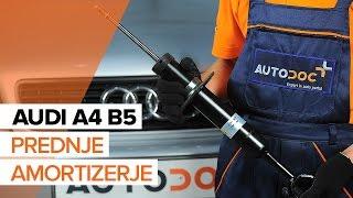 Oglejte si video vodič, kako zamenjati Blažilnik na AUDI A4 (8D2, B5)