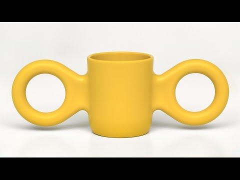 "Dombo mug (aka Domoor cup) by Richard Hutten ""makes people happy"""