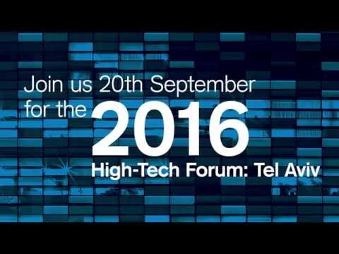 Join us in the 3rd Credit Suisse High-Tech Forum in Tel Aviv on September 20, 2016
