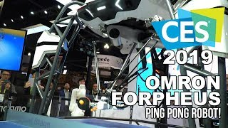 Omron FORPHEUS Ping-Pong Playing AI Robot at CES 2019