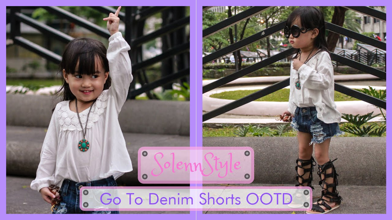 117ef272291e Solenn s Go-To Denim Shorts with Gladiator Sandals OOTD - H M Kids ...