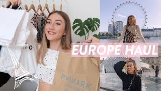 HUGE LONDON AND PARIS SHOPPING HAUL! What I bought in Europe! plus shopping vlog!