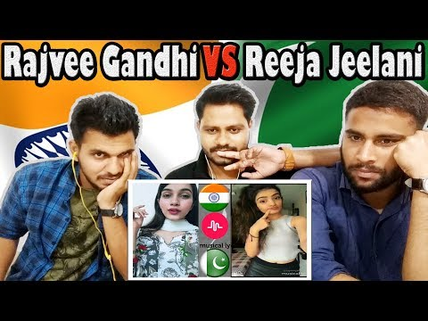 Indian Reaction on musicly.ly REEJA JEELANI From Pakistan & RAJVEE GANDHI From india | Krishna Views
