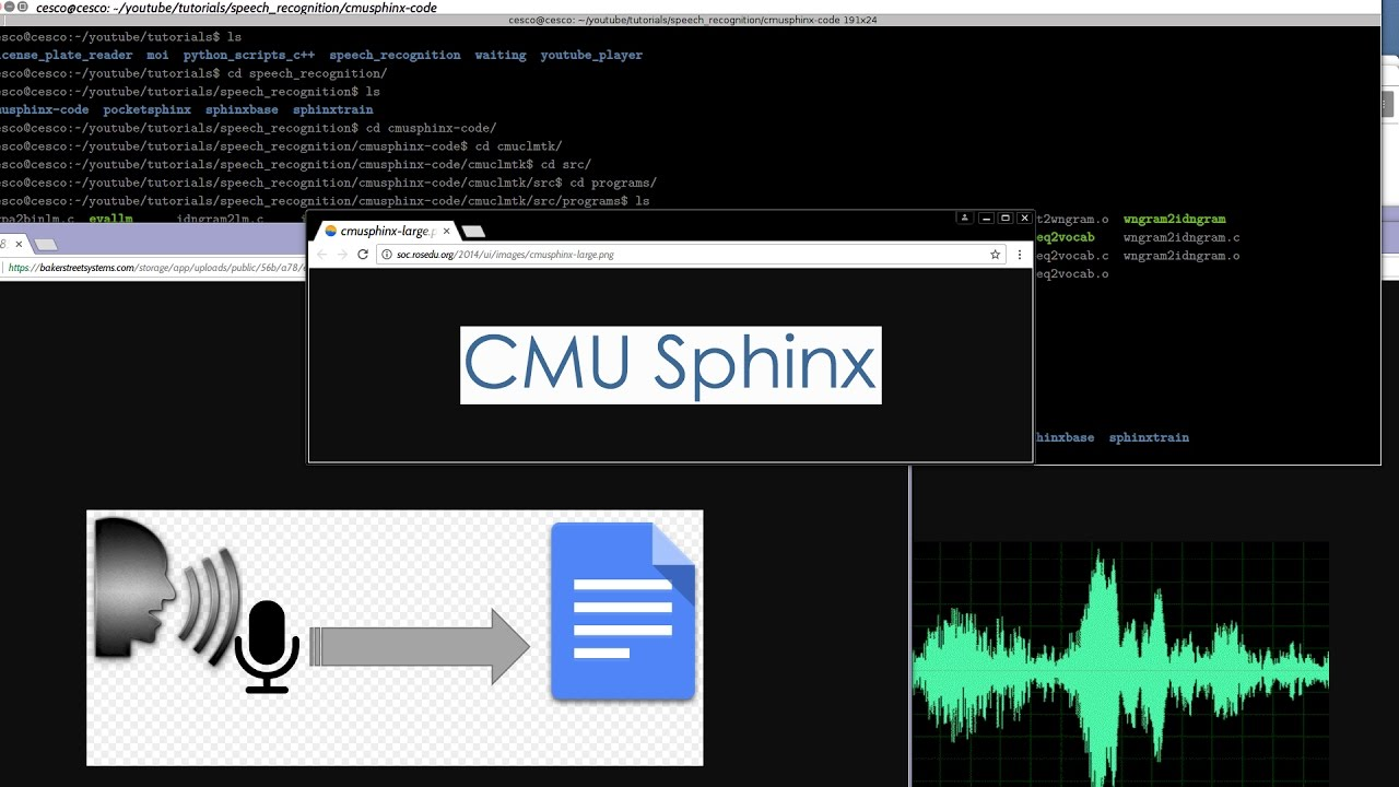 Speech Recognition with CMU Sphinx 1: Building Sphinxbase, Pocketsphinx,  Sphinxtrain, and Cmuclmtk
