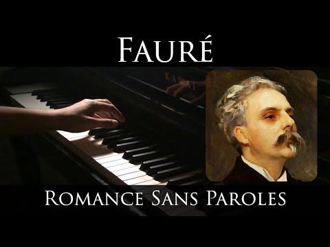 Faure - Romance sans paroles, Op. 17, No. 3