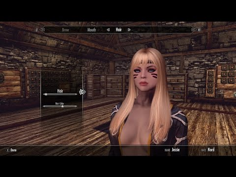 Skyrim SE Character Creation - Female Nord w/mods