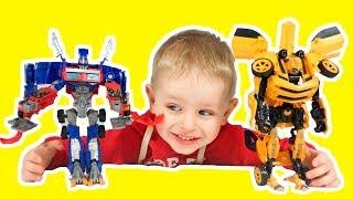 Трансформеры игрушки Роботы автоботы Оптимус Прайм и Бамблби Видео для детей про трансформеров 5