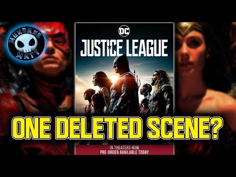 JUSTICE LEAGUE Blu-Ray to contain ONLY one deleted scene?