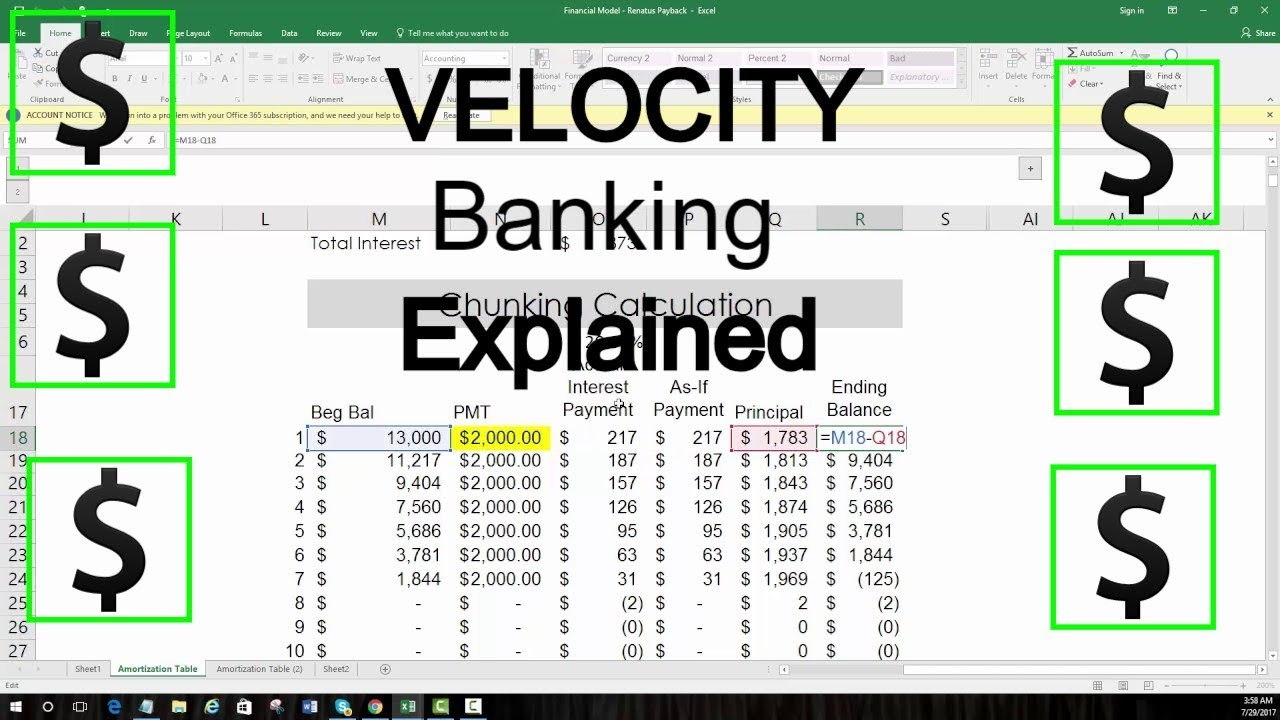velocity banking detail explanation