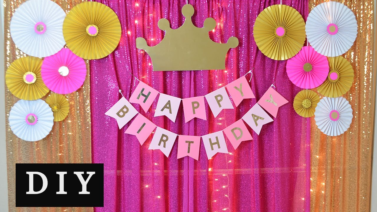 Diy Princess Theme Birthday Party Decoration Ideas At Home Youtube