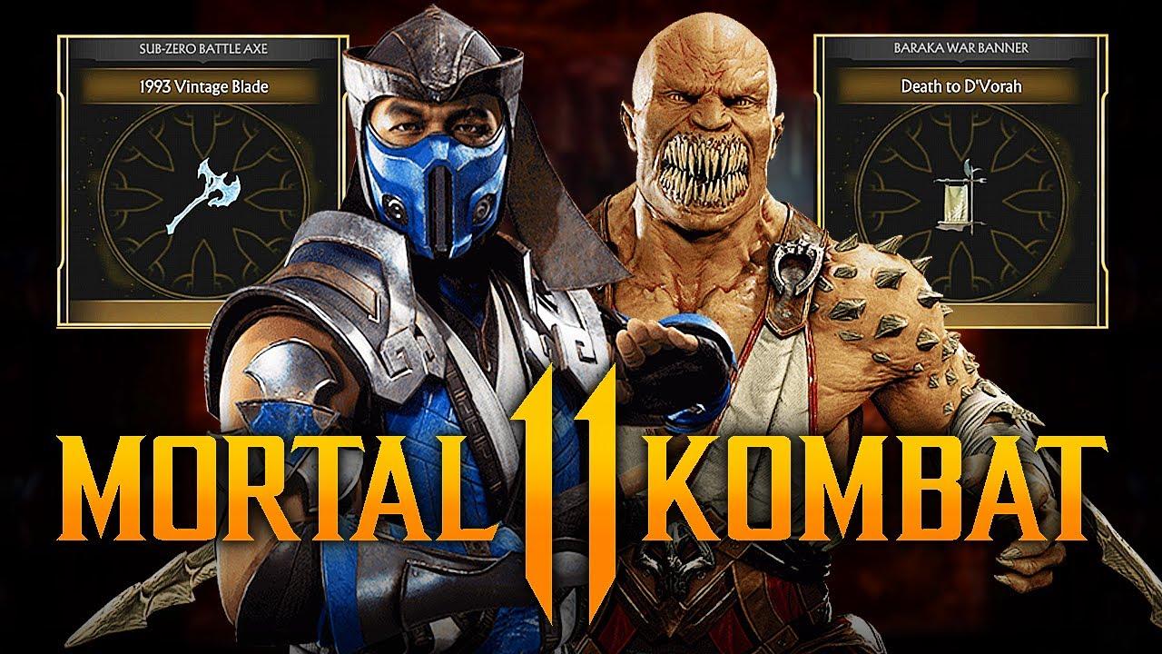 Mortal Kombat 11 - NEW Krypt Event for Sub-Zero & Baraka w/ Rare Kombat League Gear! (Event #33)