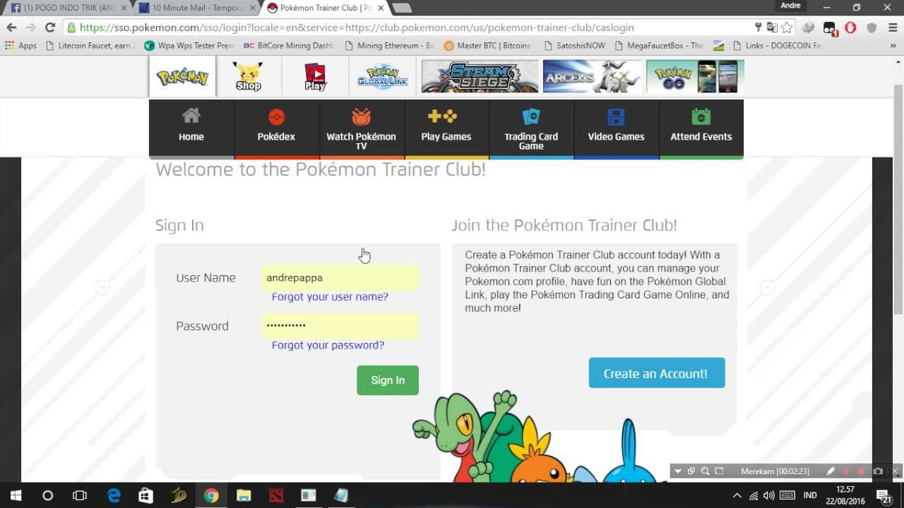 Cara Cepat Membuat Akun Pokemon Go Tanpa Email Youtube