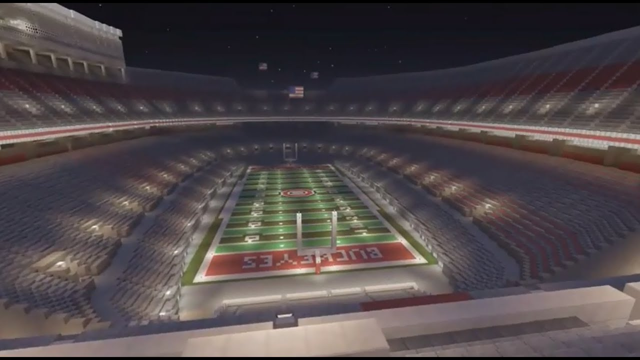 ohio stadium ohio state football minecraft creative build youtube