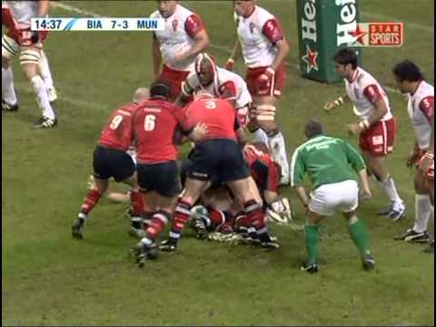 Heineken Cup Final 2006 - Biarritz vs Munster, 1st Half
