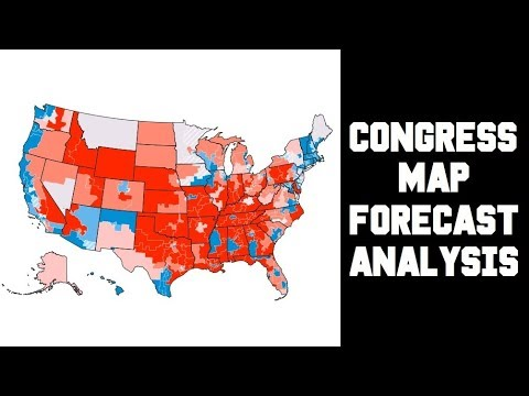 FiveThirtyEight, Real Clear Politics, The Cook Political Report - 2018 House Race Ratings Map