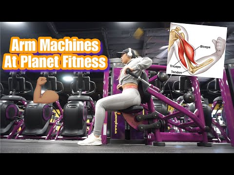 ARM MACHINES💪🏽 AT PLANET FITNESS | Beginner Friendly