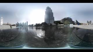 A 360 degrees VR short clip around Burj Khalifa in the beautiful Dubai