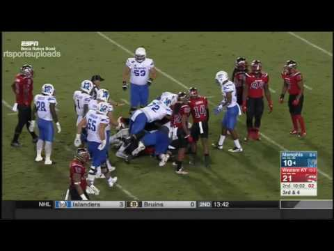 (Boca Raton Bowl) Memphis Tigers vs Western Kentucky Hilltoppers in 30 Minutes - 12/20/16