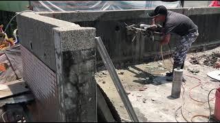 麥寮活動中心女兒牆切割 1
