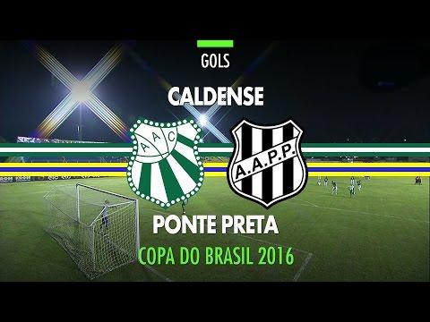 Gols - Caldense 1 x 2 Ponte Preta - Copa do Brasil - 07/04/2016