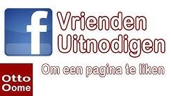 Vrienden uitnodigen om Facebook pagina te liken